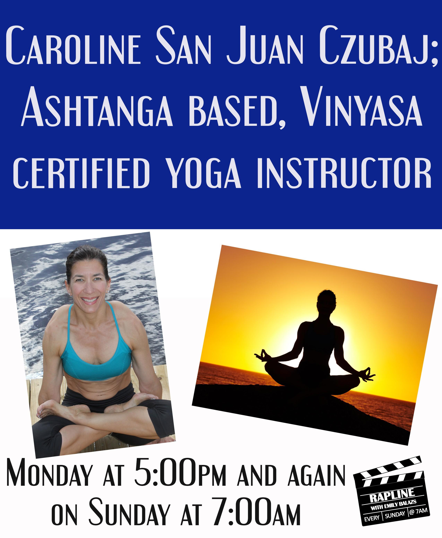 caroline yoga instructor 10.5 & 10.11